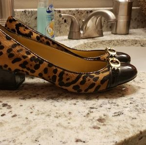 Leopard  print Coach loafers